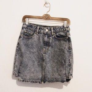 Missguided Acid Wash Denim Skirt